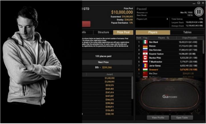 Coach Benj, en table finale du Main Event du Super Million de GGPoker (1M$ à la gagne)
