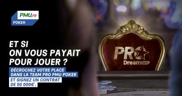 Vous avez toujours rêvé de devenir joueur pro ? PMU lance la Pro Dream !