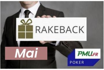 La promotion rakeback de mai sur PMU Poker !
