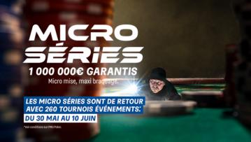 Les Micro Séries sont de retour sur PMU et partypoker 1 000 000€ Garantis !