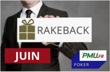 La promotion rakeback de juin sur PMU Poker !