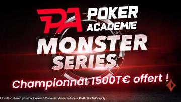 Championnat d'été sur Poker Académie - 1500€ offerts sur partypoker !