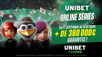 Unibet Online Series : 360.000€ GTD sur 75 tournois !