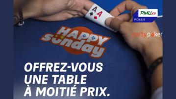 HAPPY SUNDAY : Les tournois majeurs à moitié prix sur PMU et partypoker !