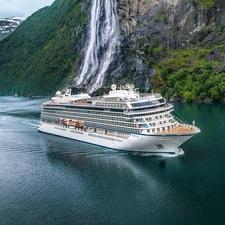 Viking Ocean Cruises - Viking Sky in Geiranger, Norway