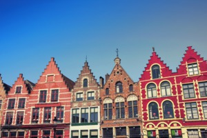 Buildings in the Market Square, Bruges