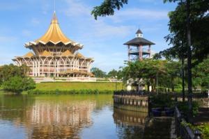 Kuching waterfront, Sarawak, Malaysia