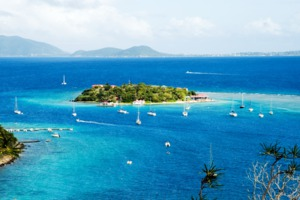 View of Virgin Gorda and Marina Cay, British Virgin Islands