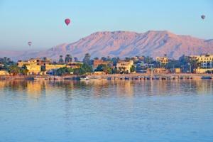 Hot air balloons over Luxor, Egypt