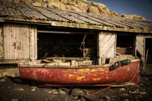 Abandoned research station, Tyuleniy island, Russia