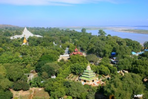 View of Mingun, Myanmar from Pahtodawgyi stupa