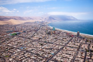 Aerial view of Iquique, Chile