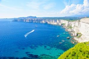 White cliffs at Bonifacio, Corsica