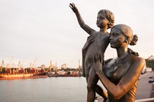 Fisherwoman Sonia statue in Odessa, Ukraine