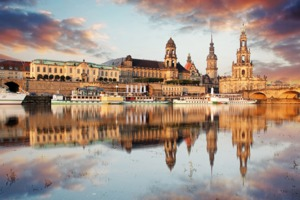 Dresden on the Elbe River, Germany