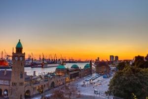 Sunset over Hamburg, Germany