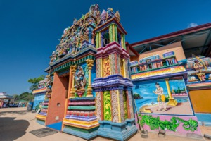 Tamil Hindu temple in Trincomalee, Sri Lanka