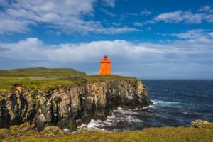 Lighthouse on Grimsey island, Iceland