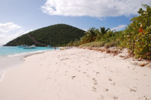 Beach on Jost Van Dyke, British Virgin Islands