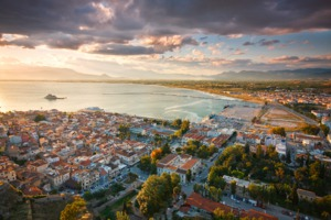 Aerial view of Nafplion, Greece