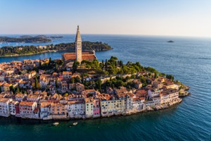 Aerial view of Rovinj, Croatia