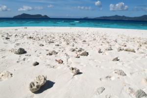 White sand beach on Mayotte island