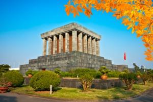 Ho Chi Minh's Mausoleum in Hanoi, Vietnam