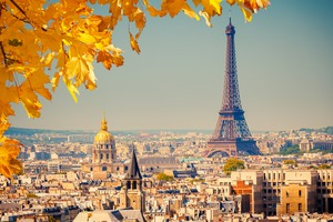 Eiffel Tower, Paris in autumn