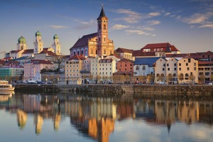 Sunset in Passau, Germany