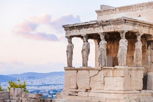 Erechtheion temple at the Acropolis, Athens