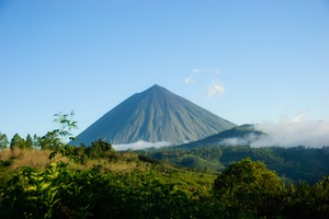 Inerie volcano on Flores island, Indonesia