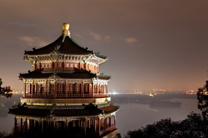Summer Palace by night, Beijing