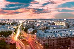 Sunset over Bucharest, Romania