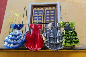 Flamenco dresses in Málaga, Spain