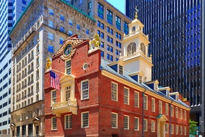 Old State House building in Boston, USA