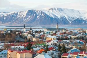 Skyline of Reykjavik, Iceland