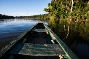 Boat on the Amazon near Manaus, Brazil