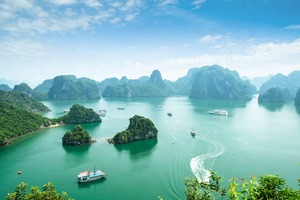 Aerial view of Ha Long Bay, Vietnam