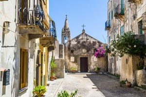 Lipari church, Italy