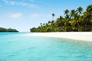 One Foot Island in Aitutaki Lagoon, Cook Islands