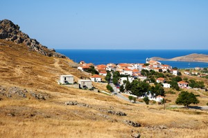 Village on Limnos island, Greece