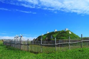 Viking homes in L'Anse aux Meadows, Canada