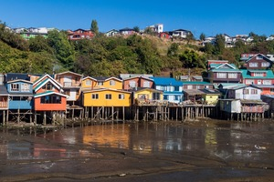 Stilt houses in Castro on Chiloé Island, Chile
