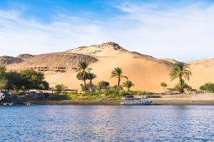 Sand dunes in Aswan, Egypt