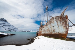 Abandoned whaling ship in Grytviken, South Georgia