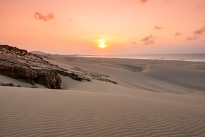 Sunset over Praia de Chaves on Boa Vista, Cape Verde