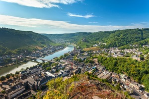 Cochem on the Moselle river, Germany
