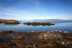 View of Eigg from Arisaig, Scotland
