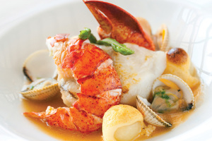 Seafood on Hebridean Princess