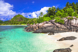 Beach on Mahé, Seychelles